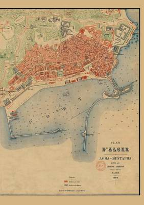 Carnet Blanc, Plan d'Alger, Jourdan, 1888 - Bnf Cartes/Plans (Paperback)