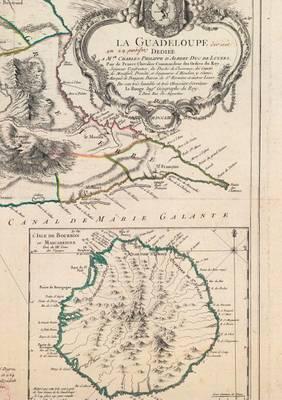 Carnet Blanc, Carte de la Guadeloupe, Le Rouge, 1753 - Bnf Cartes/Plans (Paperback)