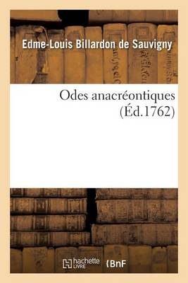 Odes Anacreontiques - Litterature (Paperback)