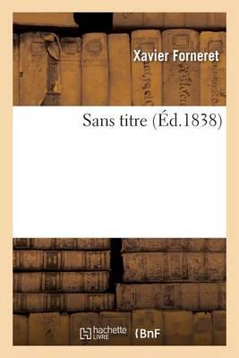 Sans Titre - Litterature (Paperback)