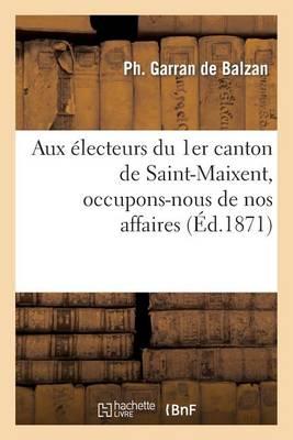 Aux �lecteurs Du 1er Canton de Saint-Maixent, Occupons-Nous de Nos Affaires - Sciences Sociales (Paperback)
