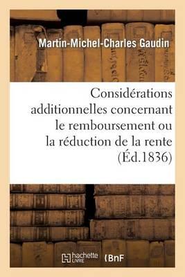 Consid�rations Additionnelles Concernant Le Remboursement Ou La R�duction de la Rente - Sciences Sociales (Paperback)