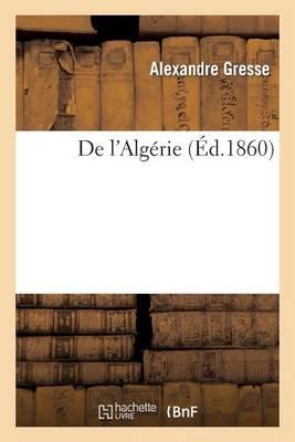 de L'Algerie - Histoire (Paperback)