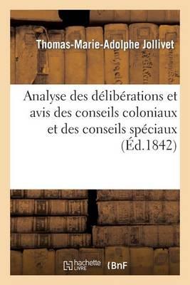 Analyse Des D�lib�rations Et Avis Des Conseils Coloniaux Et Des Conseils Sp�ciaux Sur l'Abolition - Sciences Sociales (Paperback)