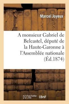 A Monsieur Gabriel de Belcastel, D�put� de la Haute-Garonne � l'Assembl�e Nationale - Histoire (Paperback)