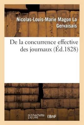 de la Concurrence Effective Des Journaux - Generalites (Paperback)