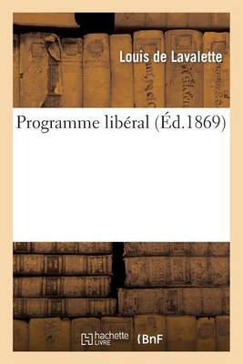 Programme Lib�ral - Sciences Sociales (Paperback)