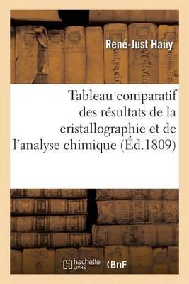 Tableau Comparatif Des R�sultats de la Cristallographie Et de l'Analyse Chimique - Sciences (Paperback)