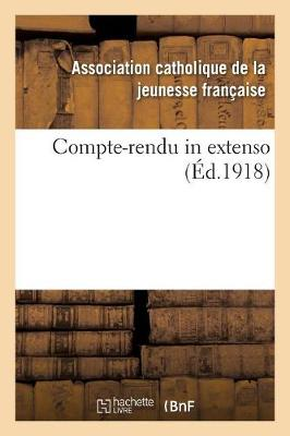 Compte-Rendu in Extenso - Religion (Paperback)
