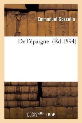 de l'�pargne - Sciences Sociales (Paperback)