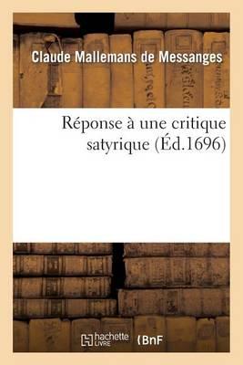 R�ponse � Une Critique Satyrique - Langues (Paperback)