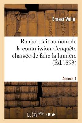 Rapport Fait Au Nom de la Commission d'Enqu te Charg e de Faire La Lumi re Sur All gations Annexe 1 - Sciences Sociales (Paperback)