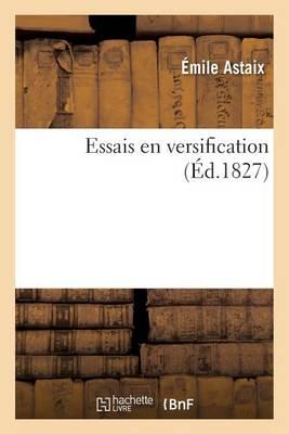 Essais En Versification - Litterature (Paperback)