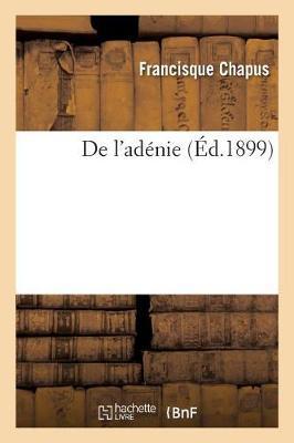 de l'Ad�nie - Sciences (Paperback)