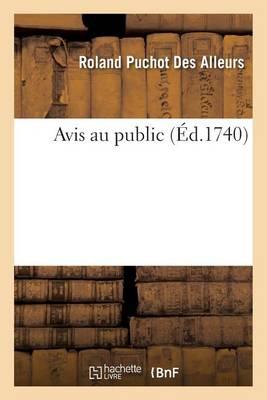 Avis Au Public - Histoire (Paperback)