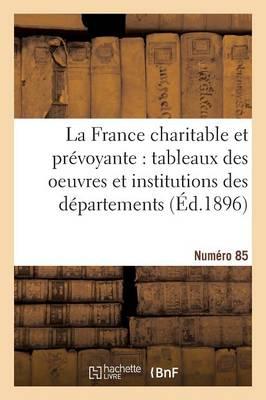 La France Charitable Et Pr voyante: Tableaux Des Oeuvres Et Institutions Des D partements. NR 85 - Histoire (Paperback)
