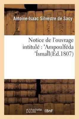 Notice de l'Ouvrage Intitul�: Ampoulf�da �sma L - Litterature (Paperback)