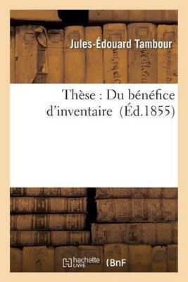 Th�se: Du B�n�fice d'Inventaire - Sciences Sociales (Paperback)