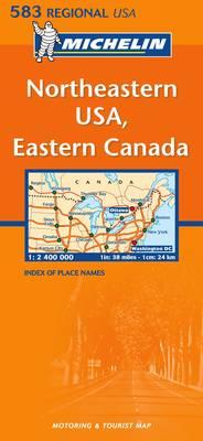 Northeastern USA, Eastern Canada - Michelin Regional Maps No.583 (Sheet map, folded)