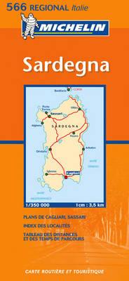 Sardegna - Michelin Regional Maps No.566 (Sheet map, folded)