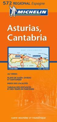 Asturias, Cantabria - Michelin Regional Maps No. 572 (Sheet map, folded)