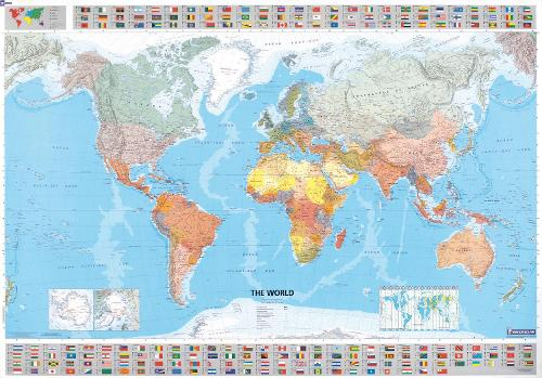 The World - Michelin rolled & tubed wall map Paper: Wall Map - Michelin Wall Maps (Sheet map)