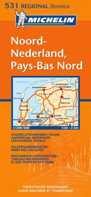 Noord-Nederland Pays-bas Nord - Michelin Maps No.531 (Sheet map, folded)