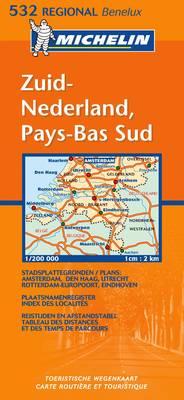 Zuid-Nederland - Michelin Regional Maps No.532 (Sheet map, folded)