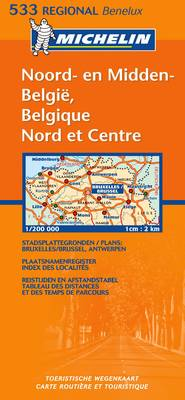 Belgique Nord and Centre - Michelin Regional Maps No.533 (Sheet map, folded)