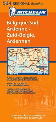 Belgique Sud, Ardenne/Zuid-Belgie, Ardennen - Michelin Regional Maps No.534 (Sheet map, folded)