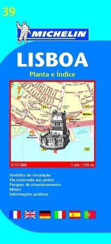 Lisbon - Michelin City Plan 39: City Plans - Michelin City Plans (Sheet map)