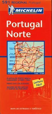 Portugal North - Michelin Regional Maps No. 591 (Sheet map, folded)