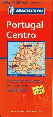 Portugal Centre - Michelin Regional Maps No. 592 (Sheet map, folded)