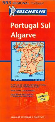Portugal South - Michelin Regional Maps 593 (Sheet map, folded)