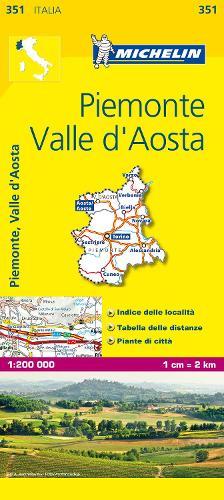 Piemonte & VA - Michelin Local Map 351: Map - Michelin Local Maps (Sheet map)