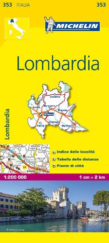 Lombardia - Michelin Local Map 353: Map - Michelin Local Maps (Sheet map)