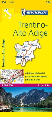 Trentino - Michelin Local Map 354: Map - Michelin Local Maps (Sheet map)