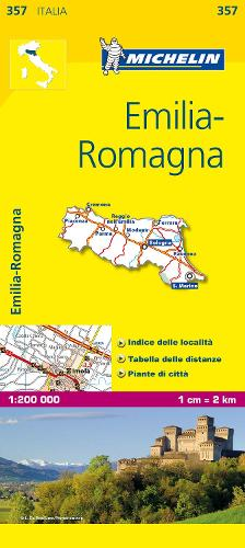 Emilia Romagna - Michelin Local Map 357: Map - Michelin Local Maps (Sheet map)