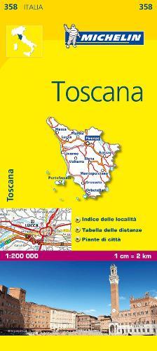 Toscana 2017 - Michelin Regional Maps 0358 (Sheet map, folded)