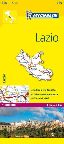 Lazio - Michelin Local Map 360: Map - Michelin Local Maps (Sheet map)