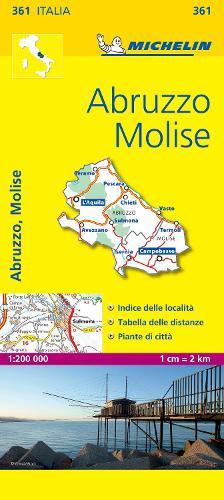 Abruzzo & Molise - Michelin Local Map 361: Map - Michelin Local Maps (Sheet map)