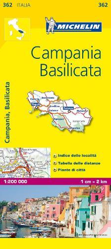 Campania - Michelin Local Map 362: Map - Michelin Local Maps (Sheet map)