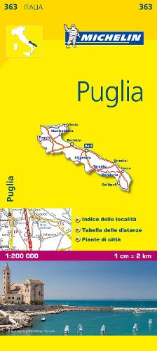 Puglia - Michelin Local Map 363: Map - Michelin Local Maps (Sheet map)