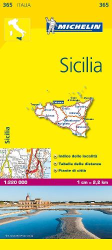 Sicily - Michelin Local Map 365: Map - Michelin Local Maps (Sheet map)