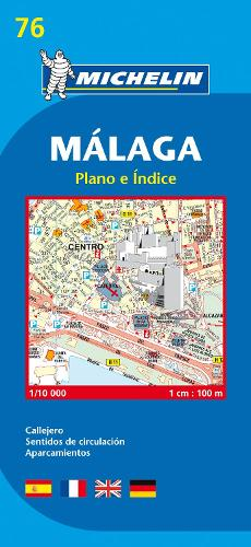 Map 9076 Malaga - Michelin City Plans No. 9076 (Sheet map, folded)
