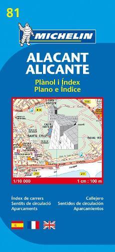 Alicante - Michelin City Plan 81: City Plans - Michelin City Plans (Sheet map)