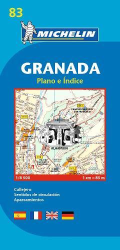 Granada - Michelin City Plan 83: City Plans - Michelin City Plans (Sheet map)