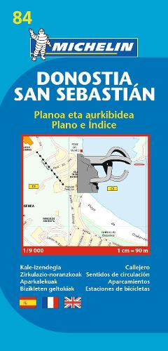 San Sebastian - Michelin City Plan 84: City Plans - Michelin City Plans (Sheet map)