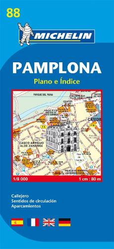 Pamplona - Michelin City Plan 88: City Plans - Michelin City Plans (Sheet map)