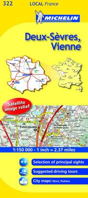 Deux-Sevres, Vienne - Michelin Local Maps No. 322 (Sheet map, folded)